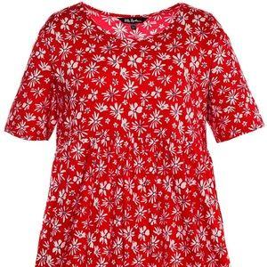 Ulla Popken  Women's Plus Size Bright Tiny Floral